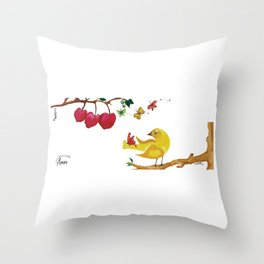 The Yellow Bird Throw Pillow