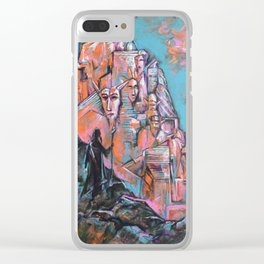 Approaching the City of Shadows Clear iPhone Case