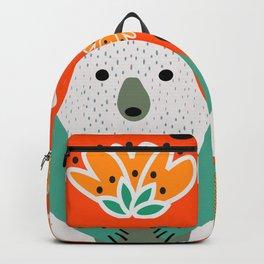 Bear in a floral spring garden Backpack