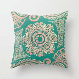The Peacock Room #1 Throw Pillow