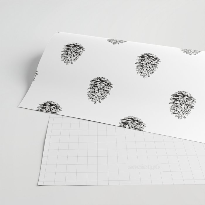 Pine cone illustration Wrapping Paper