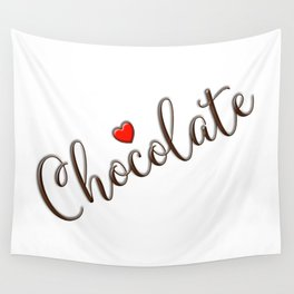 Chocolate Love Wall Tapestry