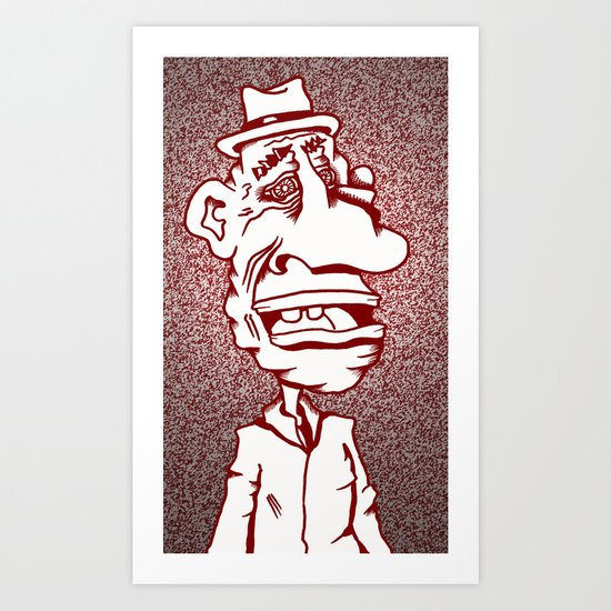 Distraught and Out in Red Art Print