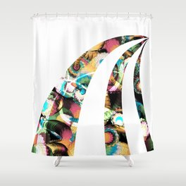 Path in Color Shower Curtain