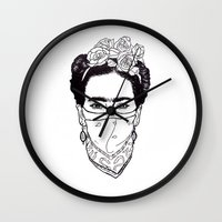 rebel Wall Clocks featuring Rebel by Diego L.D.