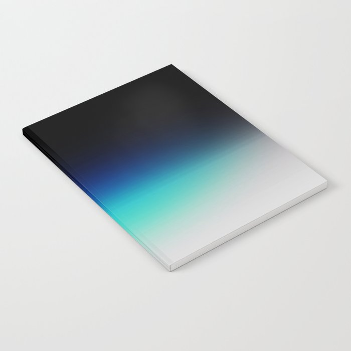 Blue Gray Black Ombre Notebook