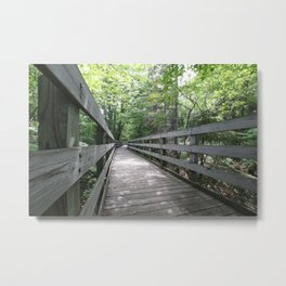 Boardwalk to Lighthouse Metal Print
