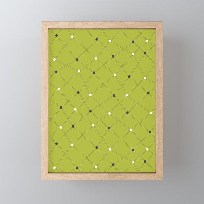 Chemistry Class Doodles - Lime Framed Mini Art Print