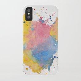 RAINBOW SPLATTER iPhone Case