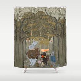 a little woodland adventure Shower Curtain