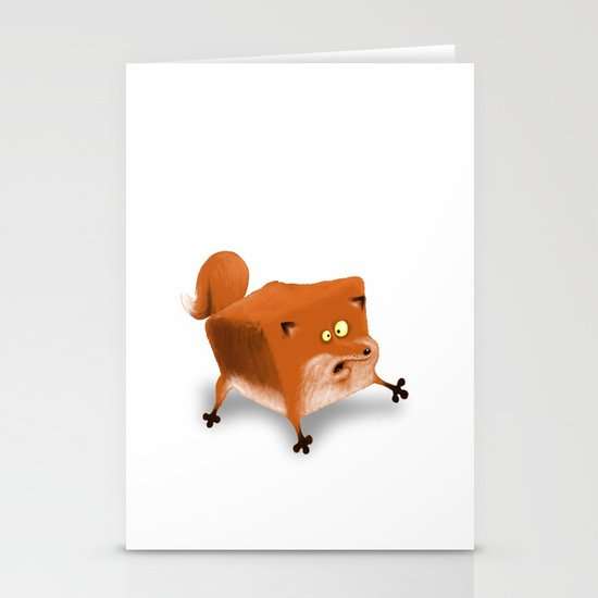 Box in a Fox Stationery Cards