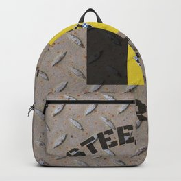 Pittsburgh Steel City Strong Flag On Metal Background Backpack