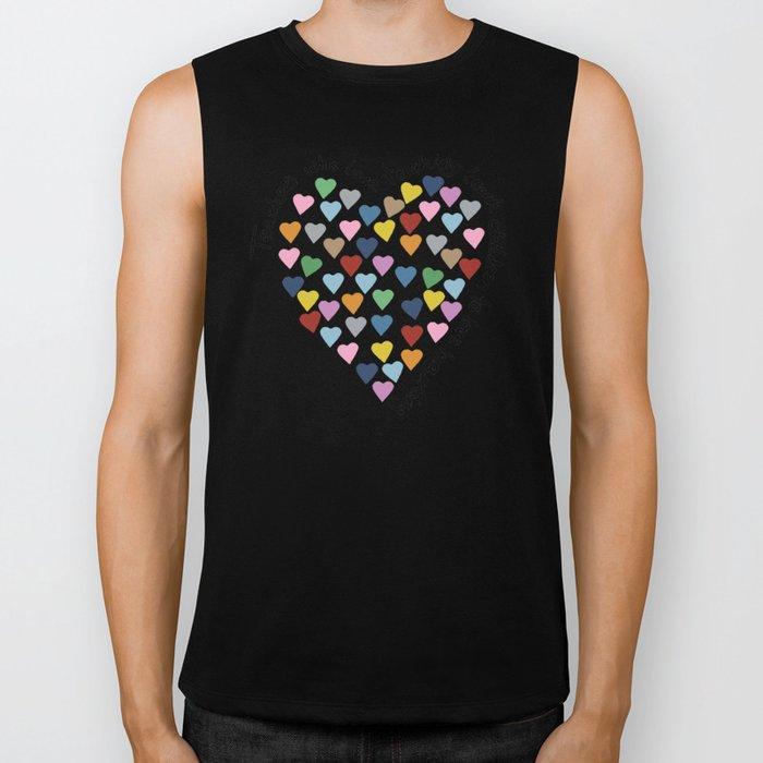 Hearts Heart Teacher Biker Tank