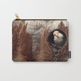 Seagreen Lovebird in the Coconut Carry-All Pouch