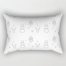 Minimalist Xmas Pattern Rectangular Pillow