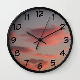 Pretty in Pink - Irish Midsummer Evening V Wall Clock