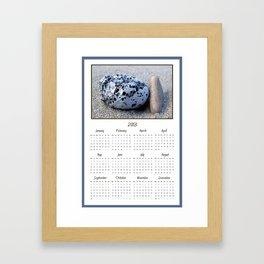 Beach Pebbles 2013 Calendar Framed Art Print