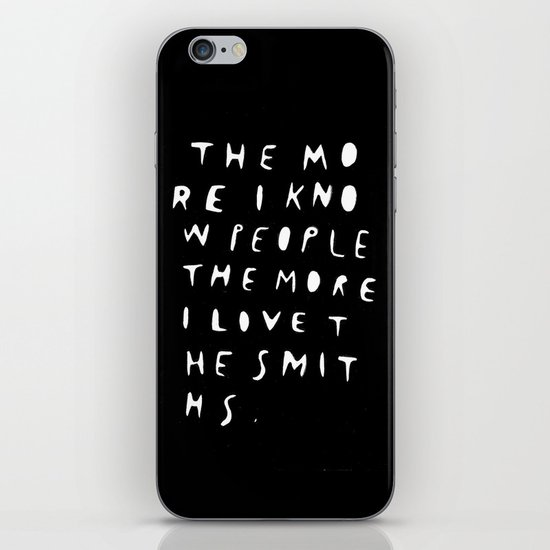THE MORE I KNOW PEOPLE iPhone & iPod Skin