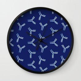 Watercolor Antibody Pattern Wall Clock