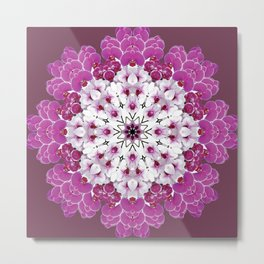 A gathering of orchids - mandala number 2, Doritaenopsis Metal Print