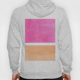 Colorful Bright Minimalist Rothko Pastel Pink Peach Midcentury Modern Art Vintage Pop Art Hoody