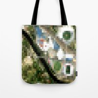 melbourne Tote Bags featuring Melbourne by Mark John Grant