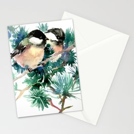 Chickadees in the Woods Stationery Cards