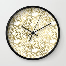 Gold Leaves 1 Wall Clock