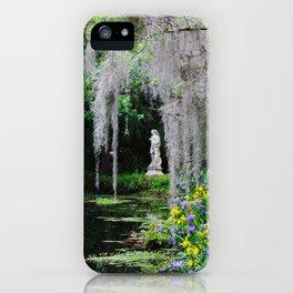 Springtime Landscape at Magnolia Plantation iPhone Case