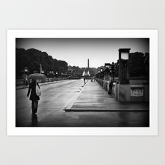 Vigeland Park in the Rain Art Print
