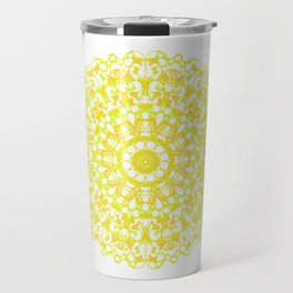 Mandala 12 / 3 eden spirit yellow Travel Mug
