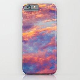 Beautiful Pink Orange Blue Purple Cotton Candy Clouds Fairytale Sky iPhone Case