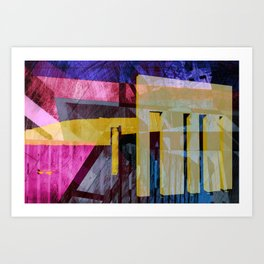 Keflavik - during a visit from the Yeti Art Print