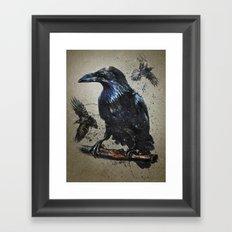 Raven background Framed Art Print