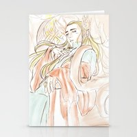 the hobbit Stationery Cards featuring Thranduil_The Hobbit by JoySlash