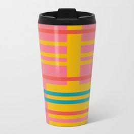 Color Blocks (Colorful Stripe Pattern) (13-Nov-17) Travel Mug
