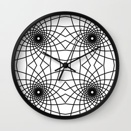 Geometric Spiral Line Art Pattern Tile Wall Clock