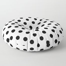 Polka Dots (Black & White Pattern) Floor Pillow