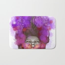 Free thoughts colorful painting Bath Mat
