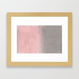 Gradient watercolor pink-gray Framed Art Print