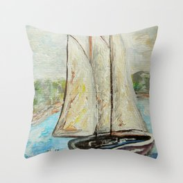 On a Cloudy Day - Impressionistic Art Throw Pillow