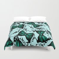 poison ivy Duvet Covers featuring Poison Ivy by Mcbee Threads