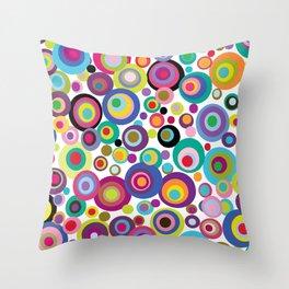 Confetti Dots Throw Pillow