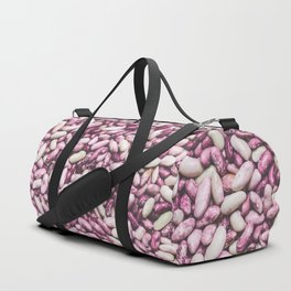 Shiny white and purple cool beans Duffle Bag