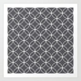 Circles Graphite Gray Art Print
