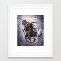 baphomet Framed Art Prints featuring Baphomet by Savannah Horrocks