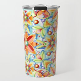 Suzani Blue Waves Travel Mug