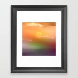 Sunrise  and sky. Framed Art Print