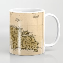 Map Of Hispaniola 1762 Coffee Mug