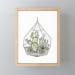 Succulent Terrarium Framed Mini Art Print